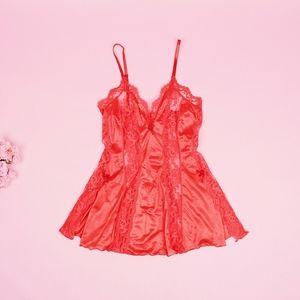Vintage Darling Red Kawaii Teddy Top
